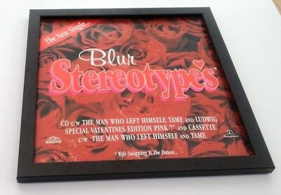BLUR Stereotypes FRAMED ORIGINAL SHOP PROMO DISPLAY