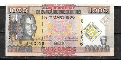 Guinea #43 2010 Unc Mint 1000 Franc   Banknote Bill Note Currency Paper Money