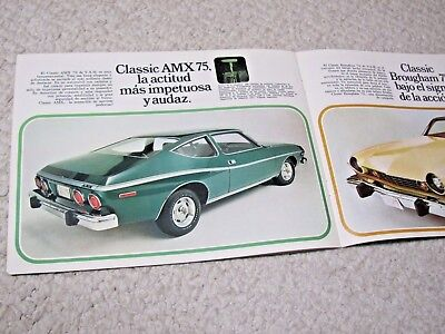 1975 Vam (Amc) (Mexico) Prestige Sales Brochure