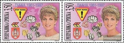 Serbian Republic bos.-h 71-72 Couple mint never hinged mnh 1997 Death of Princes
