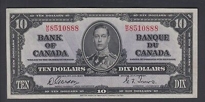 1937 $10 Dollars Gordon Towers - Prefix M/D - Bank of Canada - E423