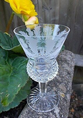 "Edinburgh Crystal ~ 4 3/8"" THISTLE Cut Sherry Glass ~ Signed"