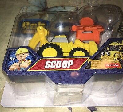 Scoop Bob The Builder Die-cast Vehicle. Fisher Price. New