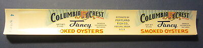 Wholesale Lot of 100 Old Vintage 1950's - Portland Fish Co. - OYSTER Can LABELS