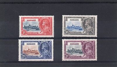 Barbados GV 1935 Silver Jubilee set  sg 241.44 H.Mint