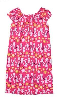 Gymboree Pink Bunny Rabbits Flowers Easter NightGown Girls Pjs Nwt M 7 8