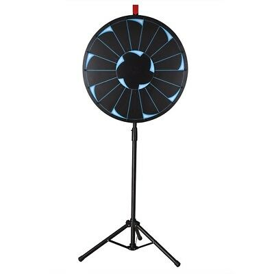 """WinSpin® 24"""" Editable Prize Wheel 18 Slot Floor Stand Tripod Spin Game Tradeshow"""