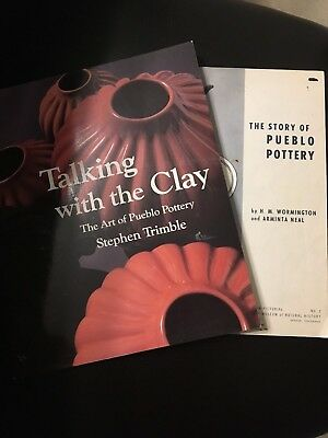 Lot Of Two (2) Books - Pueblo Pottery The Story Of Pueblo Pottery By H. M. Wormi