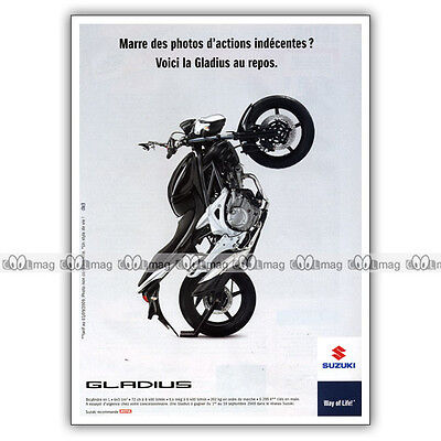 pub suzuki sfv 650 gladius original advert publicit moto de 2009 eur 6 00 picclick fr. Black Bedroom Furniture Sets. Home Design Ideas