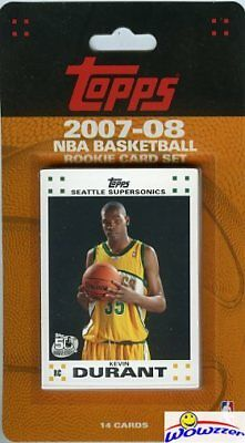2007/08 Topps NBA Factory Sealed 14 Card ROOKIE SET-Kevin Durant ROOKIE MINT++