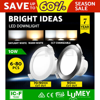 LUMEY LED Downlight Kit Dimmable Non-dim Ceiling Light Daylight Warm White 10W