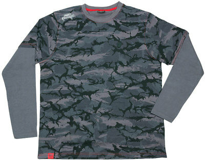 FOX Rage Long Sleeve Shirt Grey-Camo - toll gemacht - M, L, XL, XXL