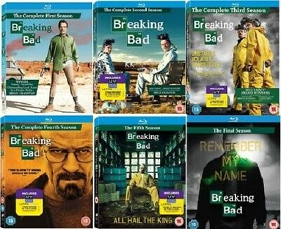 Breaking Bad Complete Collection Series 1 2 3 4 5 6 (5 Pt 1 +2) New RegB Blu-ray