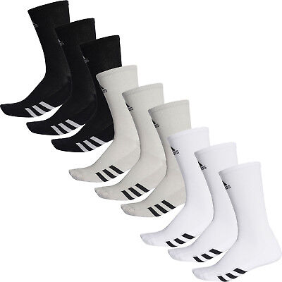 Adidas 2018 Mens 3 Pack Crew Golf Sports Socks