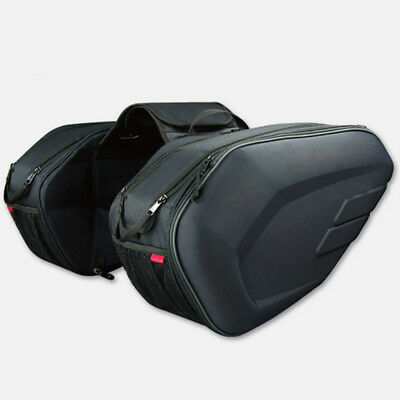 Universal fit Motorcycle Pannier Bags Luggage Saddle Bags with Rain Cover 36-58