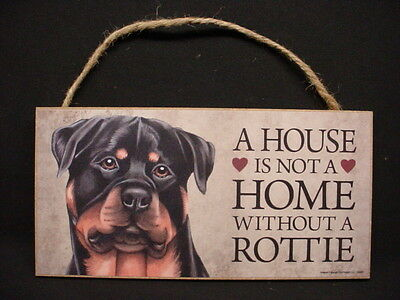 A House Is Not A Home ROTTWEILER wood DOG SIGN wall hanging ROTTIE PLAQUE puppy