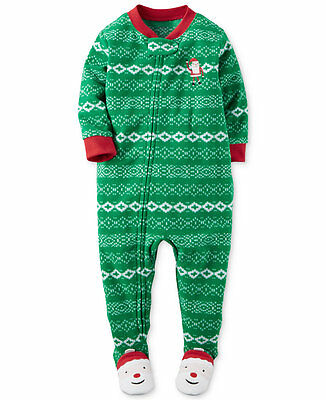 NWT ☀FOOTED FLEECE☀ CARTERS Boys Pajamas SANTA  CHRISTMAS New YOU PICK  7 8 $30