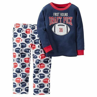 NWT ☀FLEECE☀ Boys CARTERS Pajamas FIRST ROUND DRAFT PICK New YOU PICK 4 6 $32
