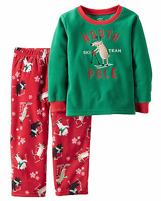 NWT ☀FLEECE☀ Boys CARTERS Pajamas NORTH POLE SKI TEAM New YOU PICK   4  5   $32