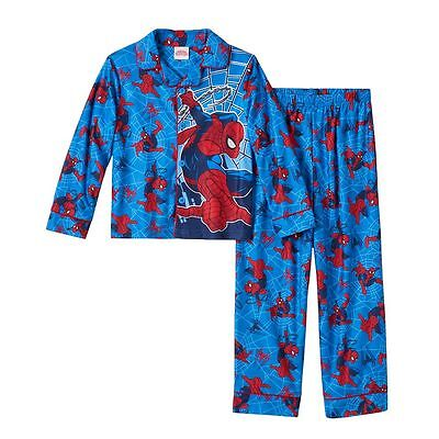 NWT ☀SPIDER-MAN☀ Pajamas  BLUE Boys MARVEL New YOU PICK 6  8  $36