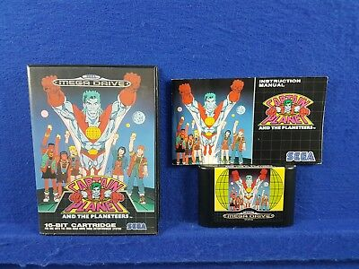 Sega Mega Drive CAPTAIN PLANET And The Planeteers Game Boxed & Complete PAL