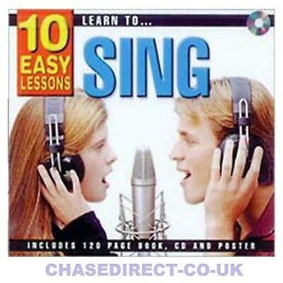 10 Easy Lessons Learn To Sing Vocal Voice for Beginners CD Booklet Poster