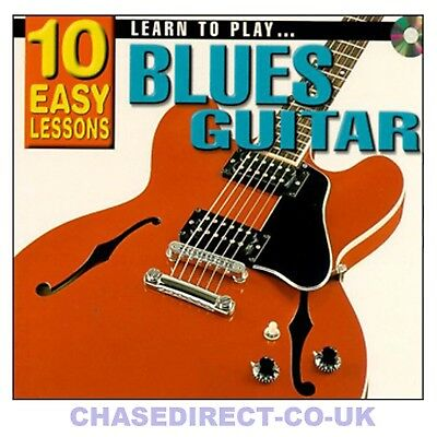 10 Easy Lessons Learn To Play Blues Guitar Beginners CD Booklet Poster