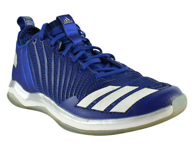 07f603acf1d83 Adidas Mens By3303 CollegiateRoyal White Blue Running Shoes Size 10.5  (328937)
