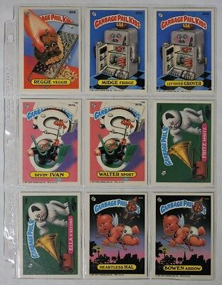 ESZ5768 VINTAGE Lot of 9: GARBAGE PAIL KIDS Sticker Cards 305B-309B Topps (1987)