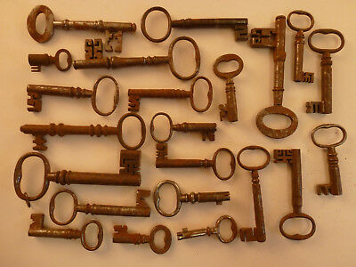 Good Collection Of 22 Antique Door/ Coffer/ Furniture Keys
