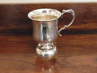 Antique sterling silver Christening cup 1920s -Silver Baby Cup 1920s - Baby Gift