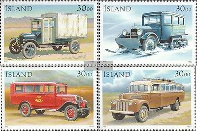 Iceland 770-773 fine used / cancelled 1992 Postautos
