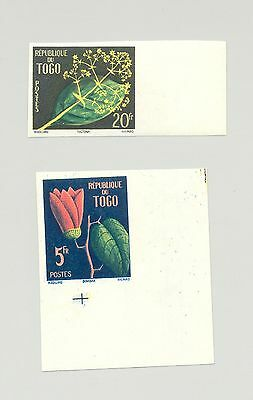Togo #348-349 Tropical Flora, Flowers 2v Imperf
