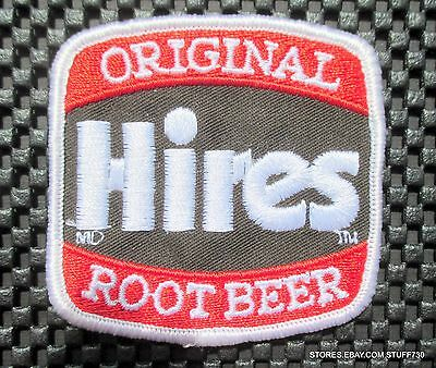 """HIRES ROOT BEER EMBROIDERED SEW ON PATCH ADVERTISING BEVERAGE SODA 3"""" x 3"""""""