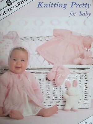 Vintage P B Knitting Pattern Booklet Beehive Baby Book First 6