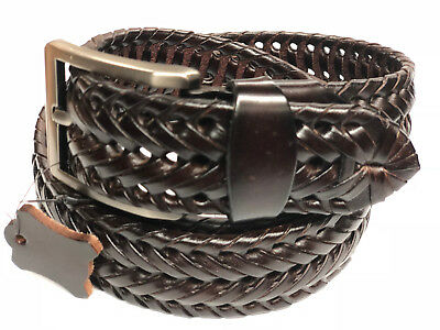 "Dress Braided Leather Belt,1- 1/2""wide,New Finish,Fit any Dress pants Lop."