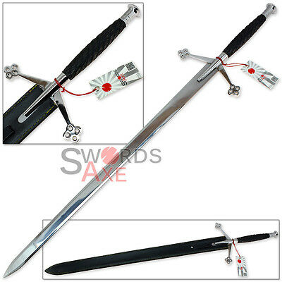 Scirocco Black Knight Scottish Claymore 44.5 Inch Steel Sword Full Tang Broad