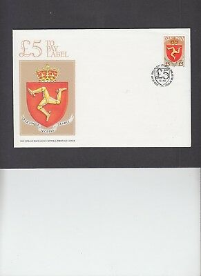 1992 Isle of Man £5 Postage Due First Day Cover