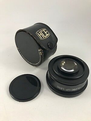 Vintage Hce Vari Close Up Lens With Leather Case