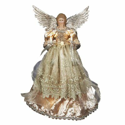 Platinum Angel Lighted Christmas Tree Topper Decoration 16 Inch UL2176 New