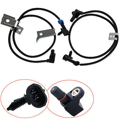 2Pcs Front Left & Right ABS Wheel Speed Sensor For Chevy GMC 15991986 19181879