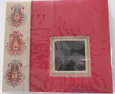 New Red Paisley Design 8 X 8 Scrapbook Album Post Bound By Michaels