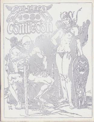 SAN DIEGO 1980 COMICON program book - Wendy Pini, Ray Bradbury, Wallace Wood