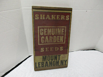 Vintage Look Shakers Garden Seeds Mount Lebanon New York Wood Sign