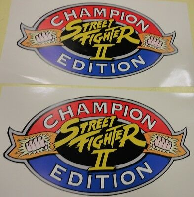 Street Fighter 2 Champion Edition Arcade Game Side art decal set