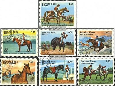 Burkina Faso 1035-1041 mint never hinged mnh 1985 Stamp Exhibition