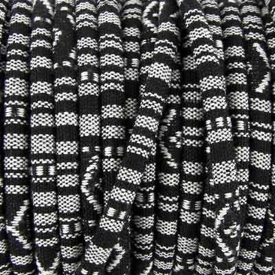 3m of Black Rope Cloth Ethnic Cord 6mm Jewellery Thread Thong - ET8