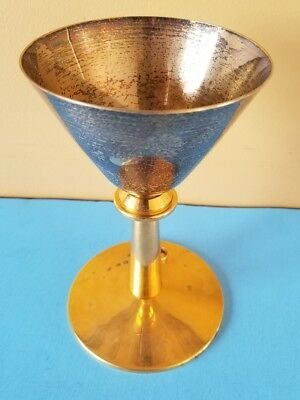 Vintage Religious Chalice Cup Base  Weight 405gr Marked Sterling
