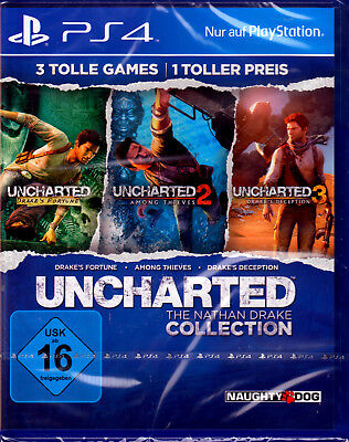 Uncharted The Nathan Drake Collection Teil 1,2,3 PS4 Spiel NEU(Action,Abenteuer)