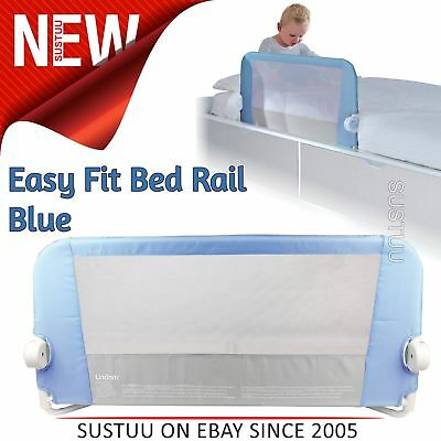 Lindam Toddler Easy Fit Bed Rail│Baby Kid's Bed Sleep Safety Guard Rail│Blue│